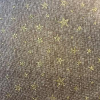Tissu étoile scintillante dorée 150 cm