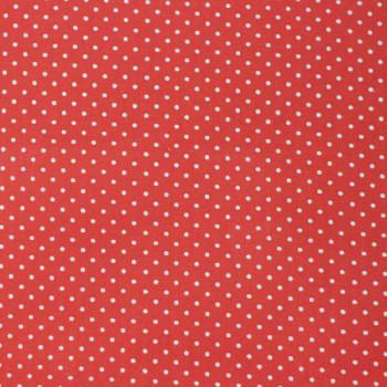 Tissu cretonne pois rouge 160 cm