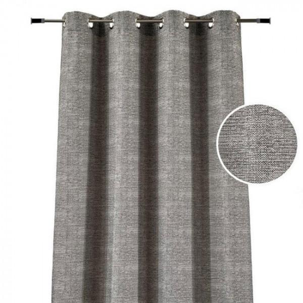 Rideau œillets jacquard gris