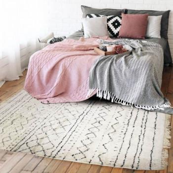 Tapis berbère blanc 160 x 230 cm