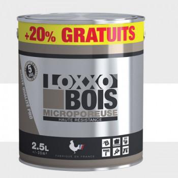 Peinture LOXXO bois blanc satin 2.5L + 20% gratuit