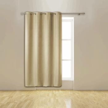 Rideau occultant beige isolant thermique