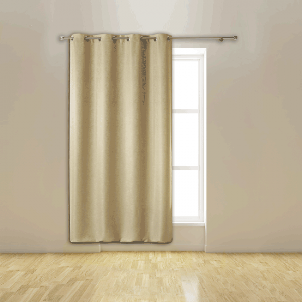 Rideau œillets isolant thermique beige