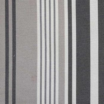 Toile transat rayée gris 160 cm