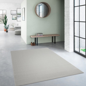 Tapis Essentiel gris clair 160 x 230 cm