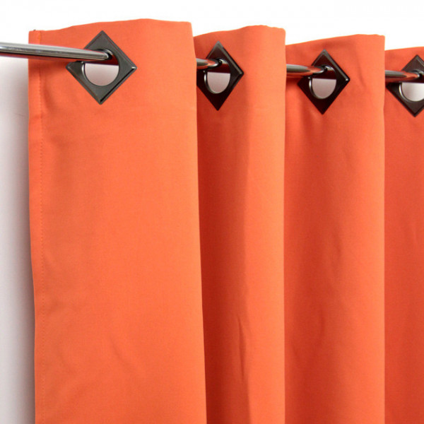 Rideau œillets occultant orange
