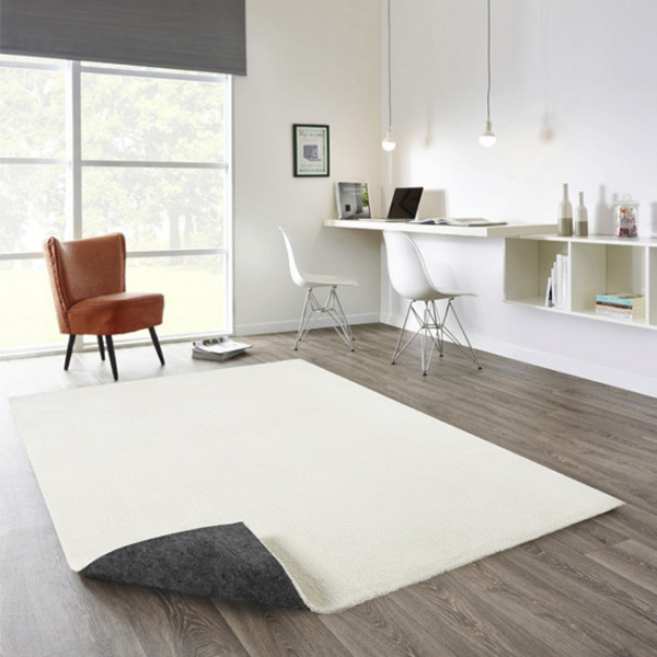 Tapis Uni blanc 60 x 115 cm
