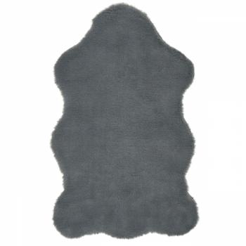 Tapis peau de lapin anthracite 80 x 50 cm