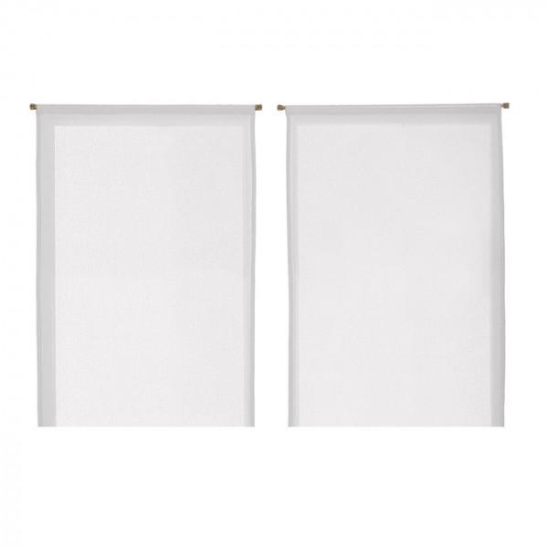 Paire de vitrage droit blanc 60 x 90 cm