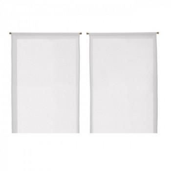 Vitrage droit blanc 60 x 120 cm