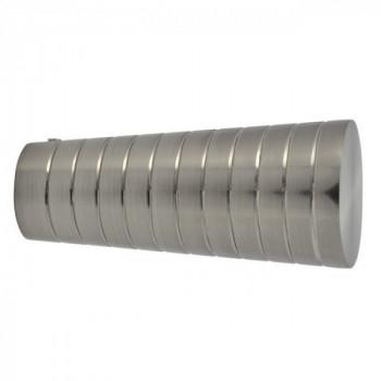 Embout KORUM Pommeau strié nickel brossé 19 mm