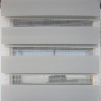 Store enrouleur lumière/nuit gris clair 45 x 90 cm