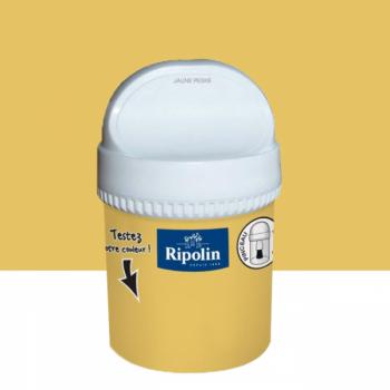 Peinture testeur Ripolin Esprit Déco Murs, plafonds, boiseries et radiateurs jaune peske satin 750ML