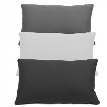 Coussin rectangle zippé noir 30x50 cm