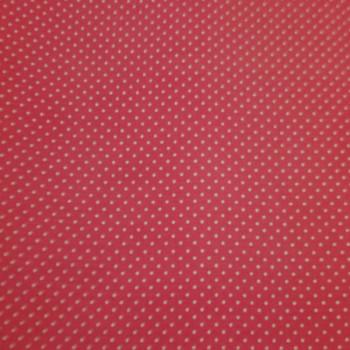 Tissu cretonne rose pois blanc 160 cm