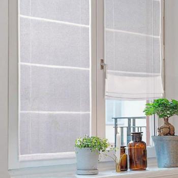 Vitrage blanc remontable 60 x 180 cm