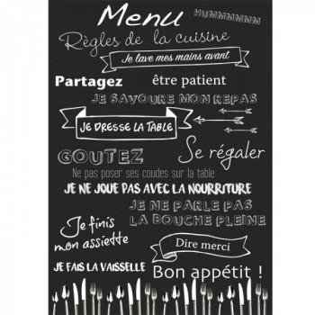 Sticker règles de la cuisine