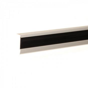 Nez de marche à visser aluminium naturel 38 mm x 16 mm x 110 cm