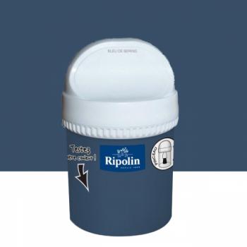 Peinture testeur Ripolin Esprit Déco Murs, plafonds, boiseries et radiateurs bleu bering satin 750ML