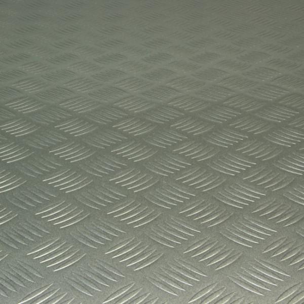 Sol PVC uni métal carbone