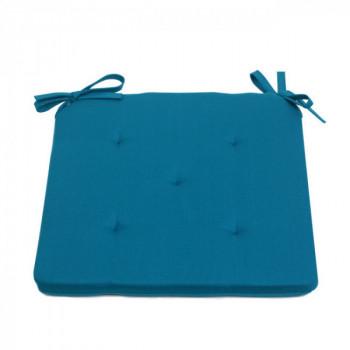 Galette piquée 5 points bleu canard 40 x 40 cm