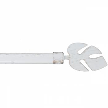 Kit tringle extensible blanc tropical 120-210 cm