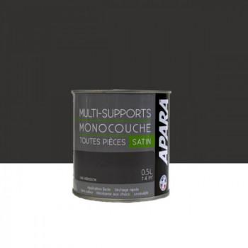 Peinture Apara multi-supports  Murs, plafonds, boiseries, plinthes...  gris hérisson satin 0,5L
