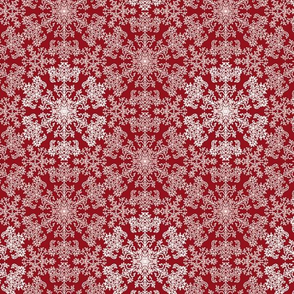 Tissu coton enduit rouge paillettes...