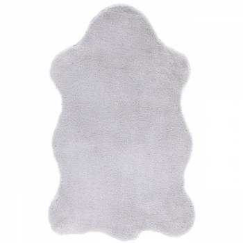 Tapis peau de lapin gris 80 x 50 cm