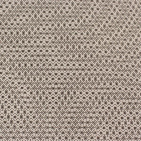 Tissu cretonne géométrique blanc...