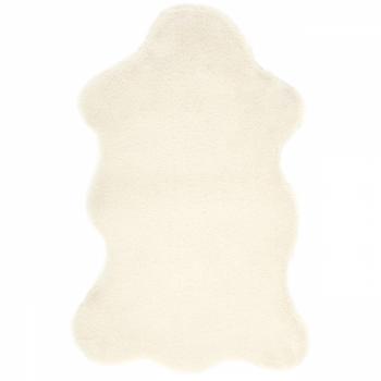 Tapis peau de lapin crème 80 x 50 cm