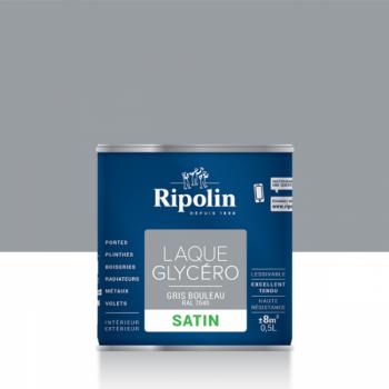 Laque glycéro ripolin multi-supports gris bouleau satin 0,5L