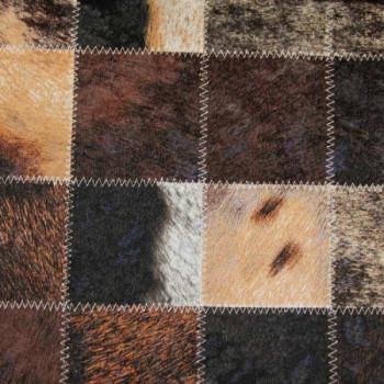 Tissu simili cuir aspect peau de bête 140 cm
