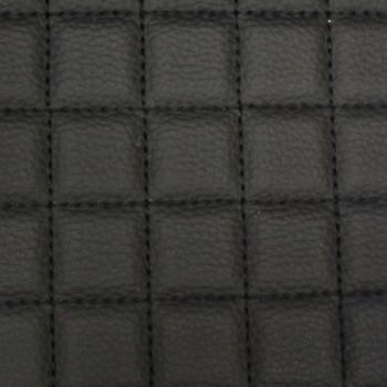 Tissu simili cuir matelassé gris foncé envers mousse 5mm 140 cm