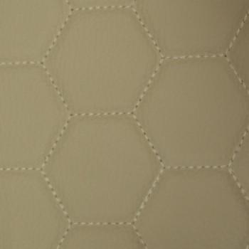 Tissu simili cuir matelassé beige envers mousse 5mm 140 cm