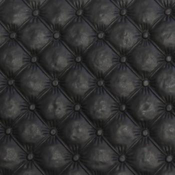 Tissu simili cuir noir mini capitons matelassé 140 cm