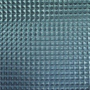 Tissu skaï bleu effet multi-facettes 140 cm