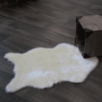 Tapis peau de mouton écru 120x180 cm
