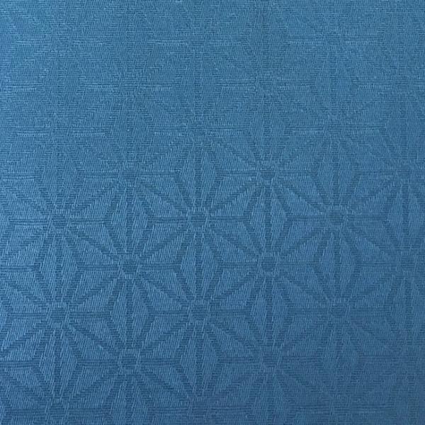 Tissu enduit motif géométrique bleu...