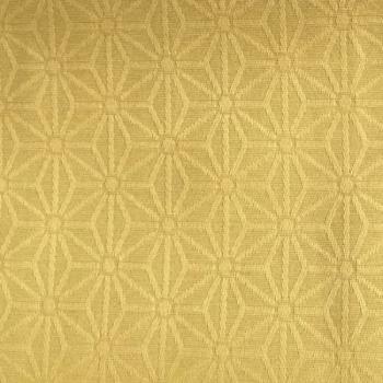 Tissu enduit motif géométrique jaune absinthe 160 cm
