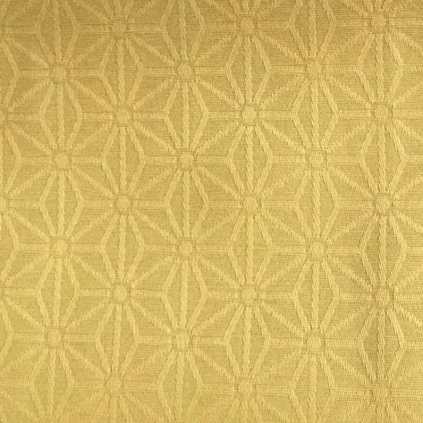 Tissu enduit motif géométrique jaune...