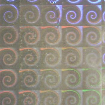 Rouleau adhésif motif escargots holographiques