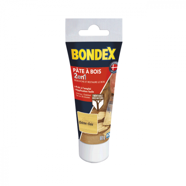 Pâte à bois 2 en 1 BONDEX chêne clair...