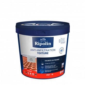 Anti-infiltration toiture Ripolin Dip Etanch gris béton 4 L