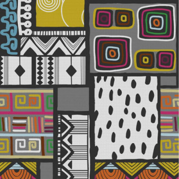 Tissu jacquard style art moderne 140 cm