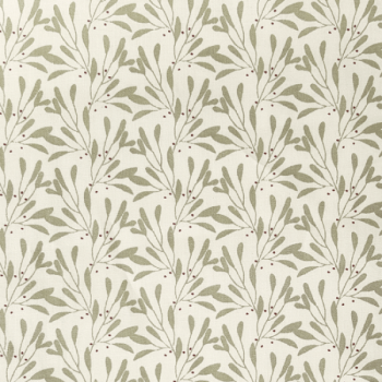 Tissu cretonne beige motif petite feuille 150 cm
