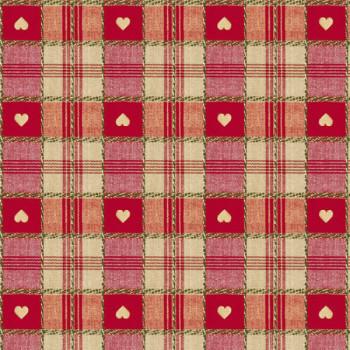 Toile cirée cœur rouge 140 cm