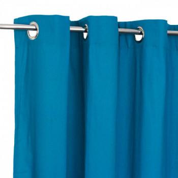Rideau tissu bleu canard Victoria
