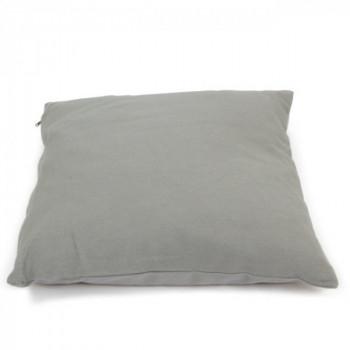 Coussin carré zippé gris clair 60x60 cm