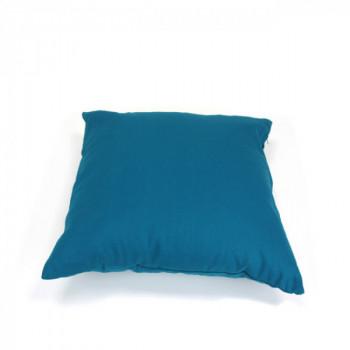 Coussin carré zippé bleu canard 60x60 cm